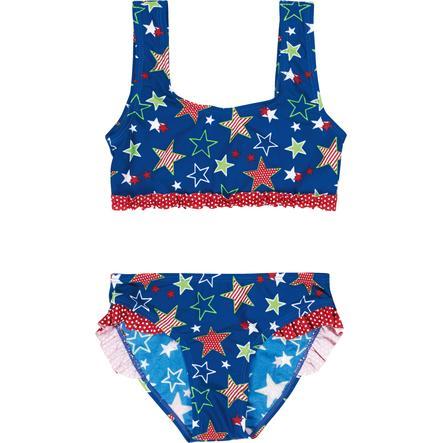 Playshoes Girl s Ochrona przed promieniowaniem UV gwiazdek bikini niebieski