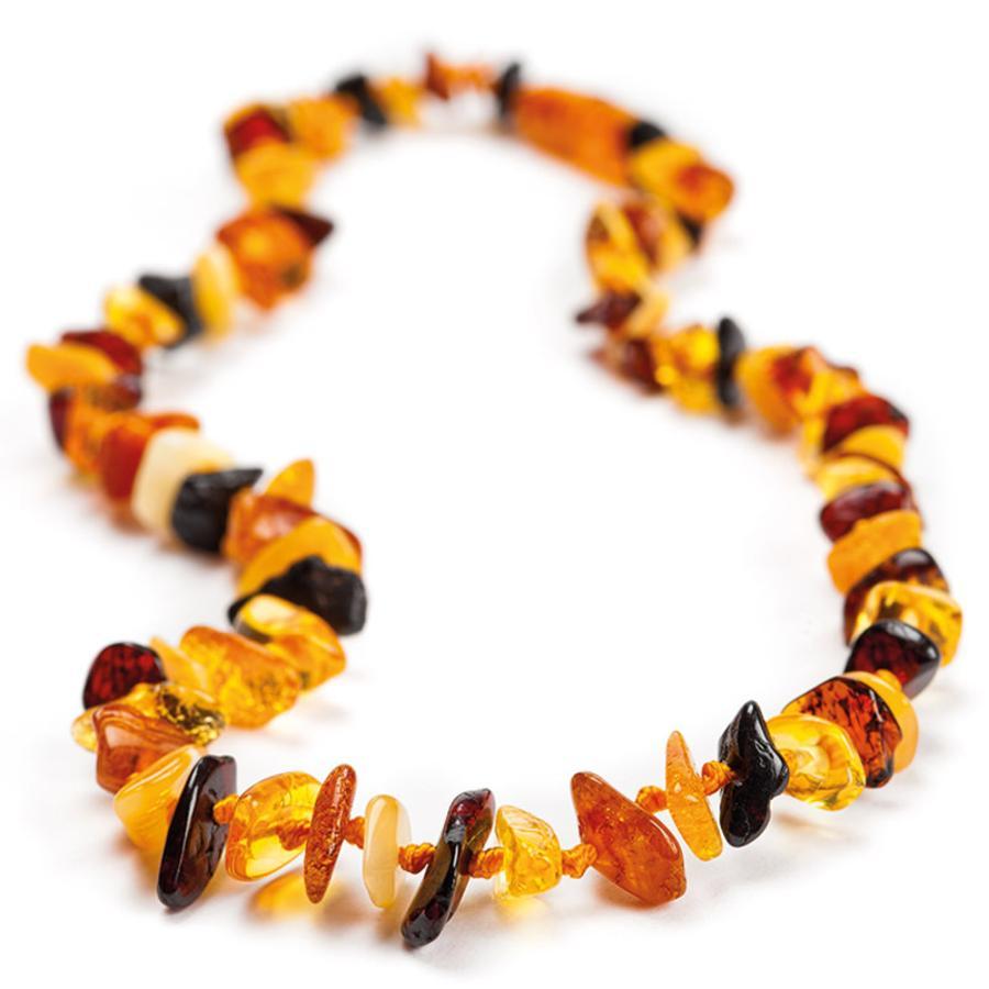 GRÜNSPECHT Anneau de dentition collier perles multi ambre