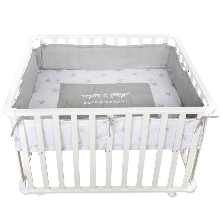 roba Box per bambini 75 x 100 cm bianco Rock Star Baby