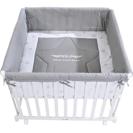 ROBA Parque infantil 100x100 cm blanco Rock Star Baby