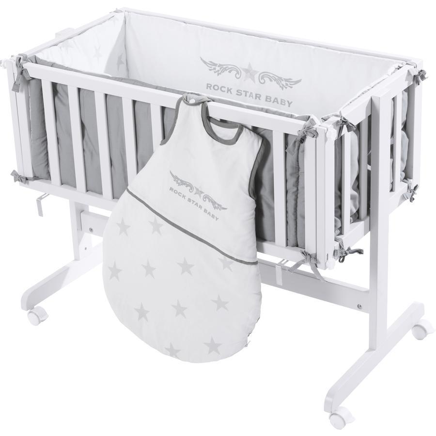 ROBA sivuvaunussänky Rock Star Baby 2, valkoinen