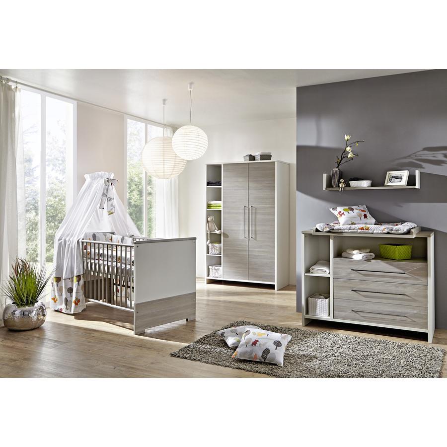 SCHARDT Set Cameretta neonato Eco Silber con Lettino, Fasciatoio e Armadio