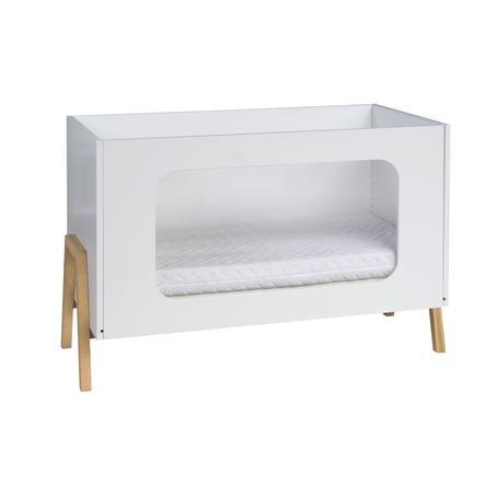 SCHARDT Lettino Holly con base in legno naturale 60 x 120 cm legno / bianco