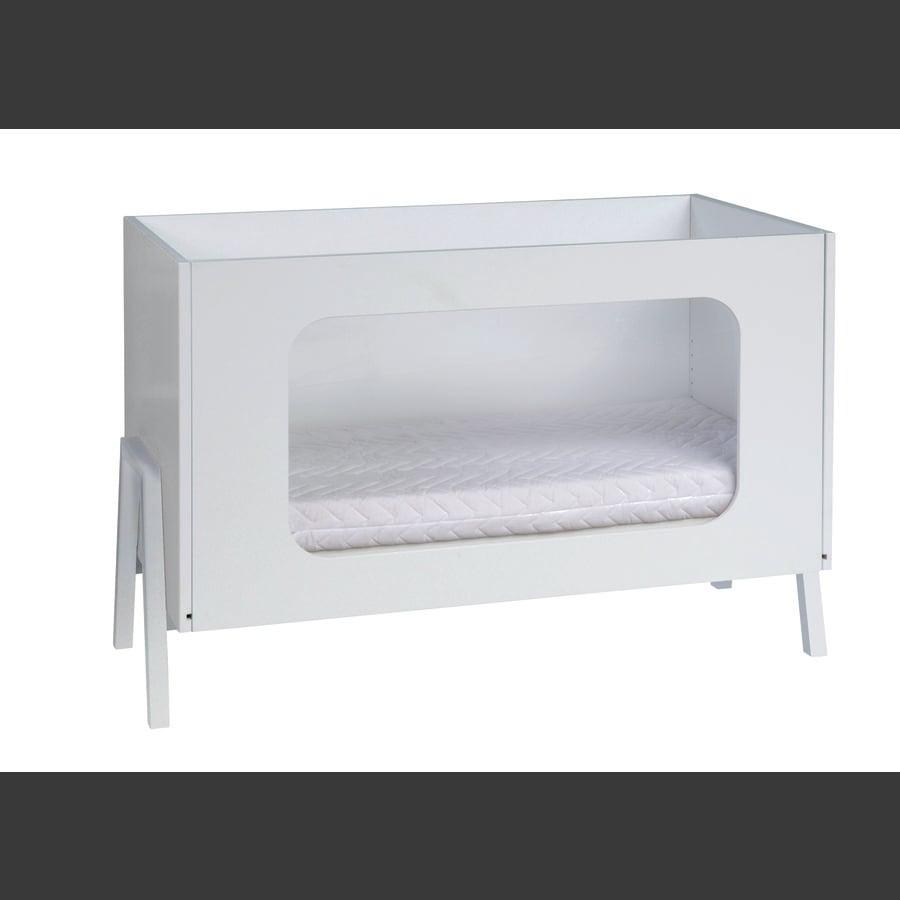 SCHARDT Lettino Holly White con base in legno laccato 60 x 120 cm bianco