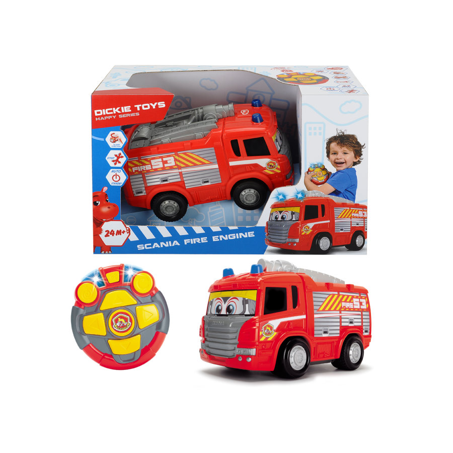 DICKIE RC Camion de pompier Happy Scania