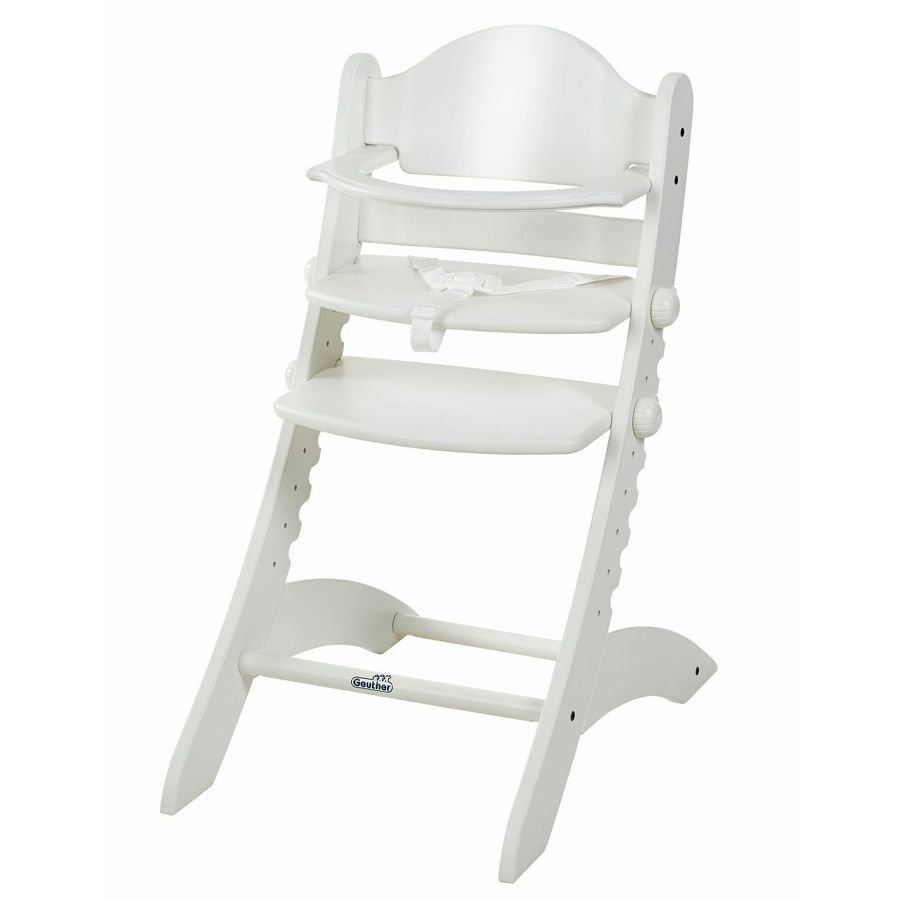 GEUTHER SWING Highchair White- Solid Beech