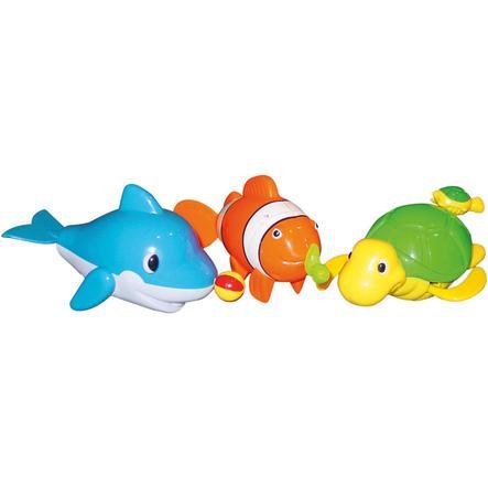 BIECO Pływające zwierzątka do kąpieli 16 cm