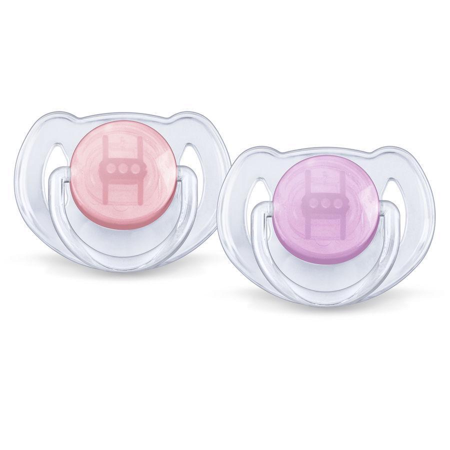 AVENT/PHILIPS Chupetes de silicona 6-18m SCF 170/22 sin BPA rojo