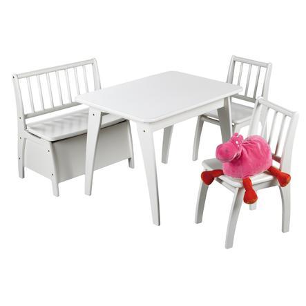GEUTHER Set tavolo e sedie Bambino - bianco