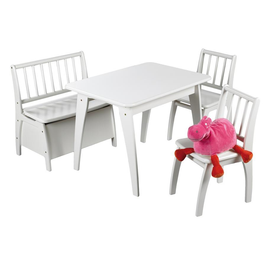 Geuther Kindertafel en stoelen Bambino wit