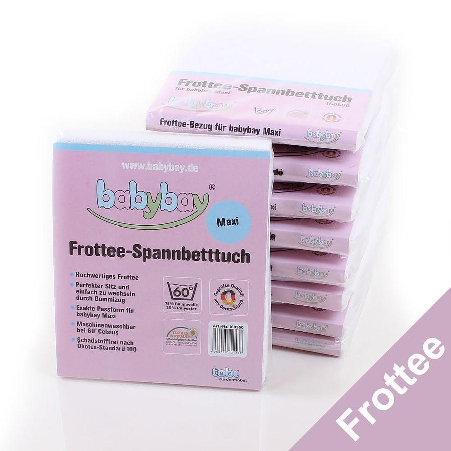 babybay Maxi Prześcieradło Frotte kolor biały
