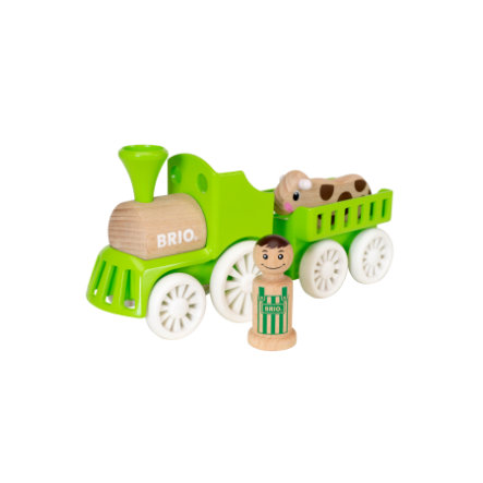 BRIO Locomotiva con rimorchio mucca 30267