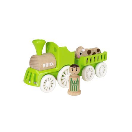 BRIO Locomotora con vagón y vaca