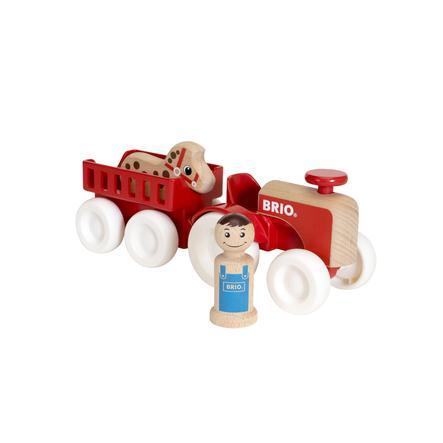 BRIO Tractor met paardenaanhanger 30265