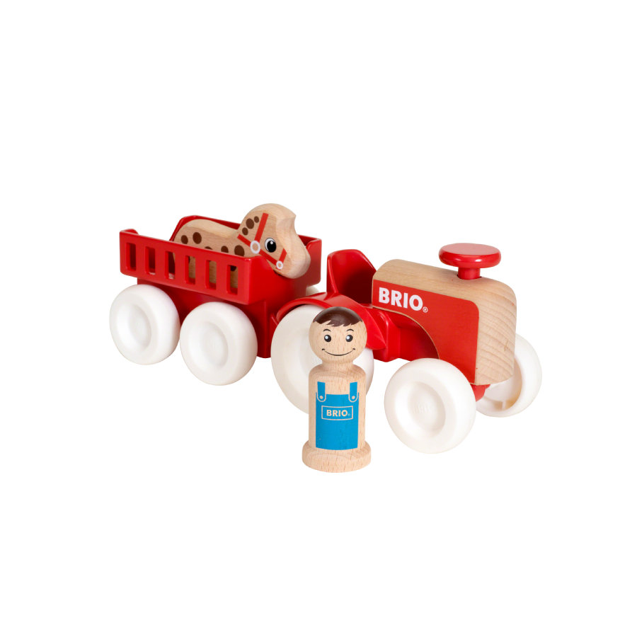 BRIO Traktor s přívěsem s koněm 30265
