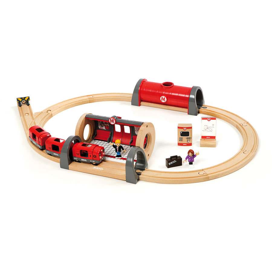 BRIO® WORLD Anfangspackung Metro Bahn Set