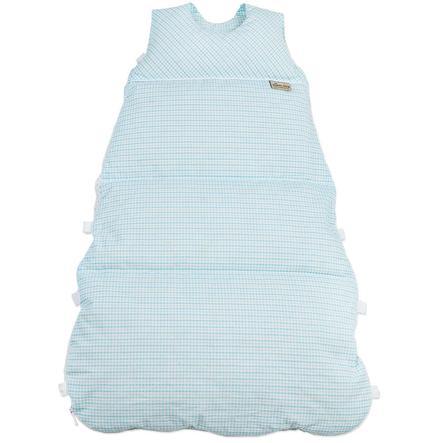 ARO WIKKEL DONZEN SLAAPZAK VARIO 60-80 cm (Turquoise mini vierkantjes)