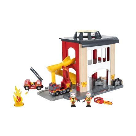 BRIO® WORLD Große Feuerwehr-Station mit Einsatzfahrzeug 33833