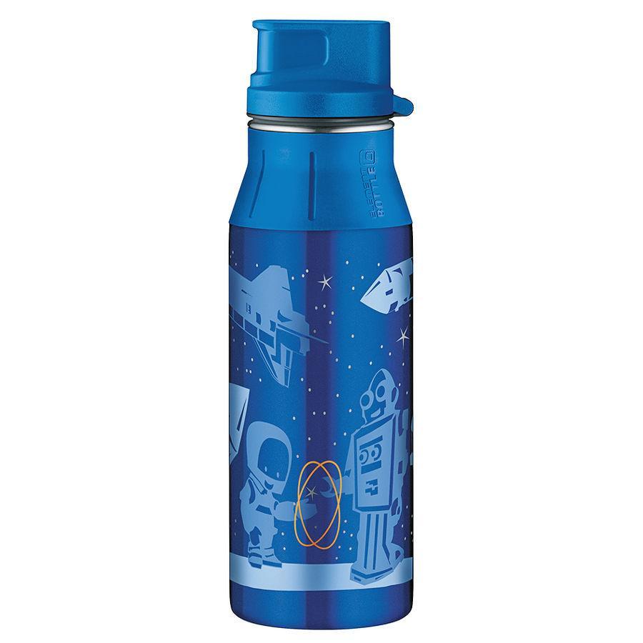ALFI Butelka z zamknięciem elementBottle SPACE ROBOTS 0,6l