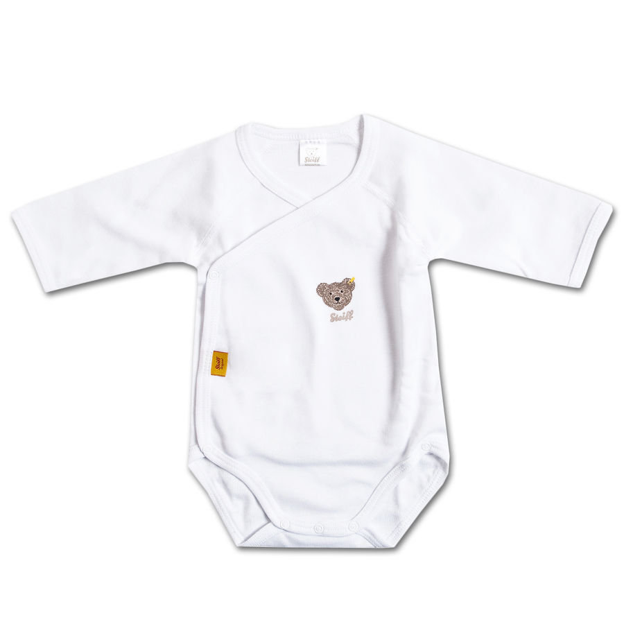 STEIFF Long Sleeved Baby Bodysuit white