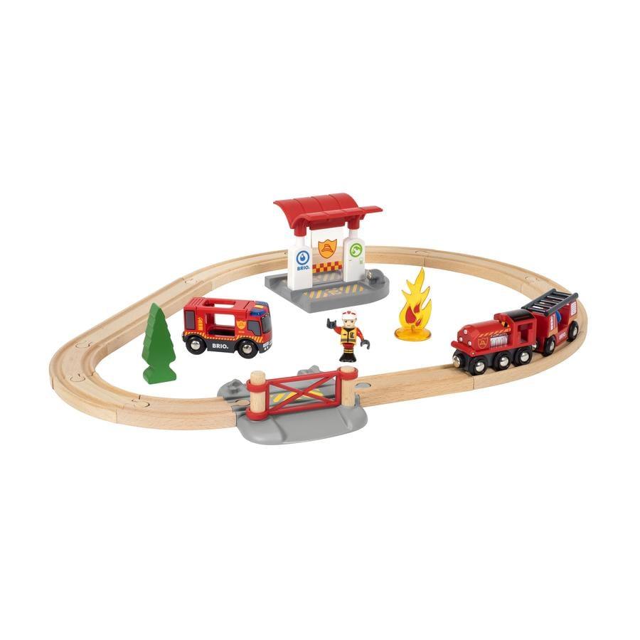 BRIO® WORLD Bahn Feuerwehr Set 33815