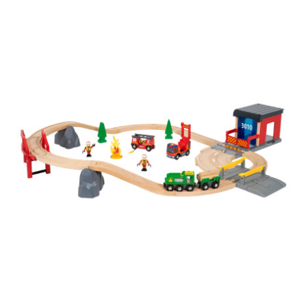 BRIO® WORLD Circuit pompier et secouriste 33817