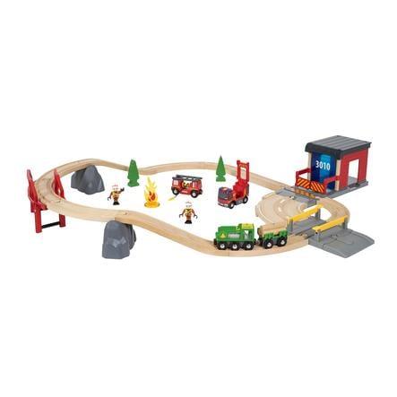 BRIO® WORLD Großes Feuerwehr Deluxe Set 33817