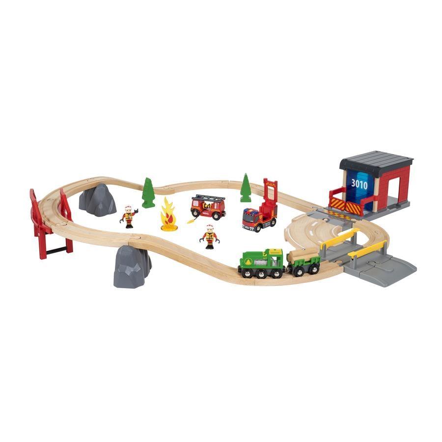 BRIO® WORLD Ferrovia Vigili del fuoco Set Deluxe 33817