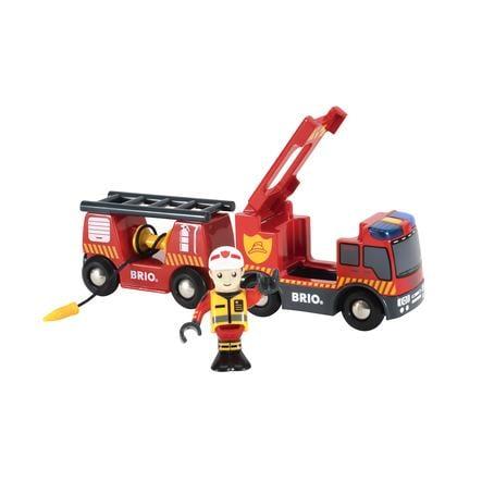 BRIO® WORLD Feuerwehr-Leiterfahrzeug mit Licht & Sound 33811