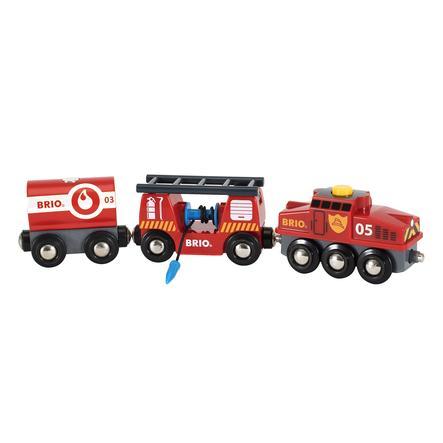 BRIO® WORLD Feuerwehr-Löschzug 33844