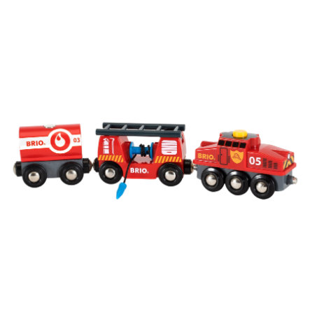 BRIO® WORLD Figurine train des pompiers 33844