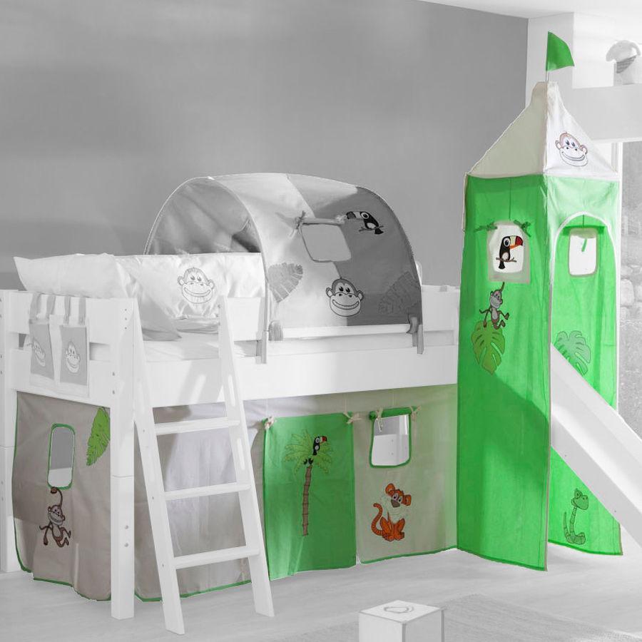 Relita Stoffset für Hochbetten mit Turm Dschungel