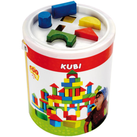 BINO Building Blocks Drum, 100 pcs.