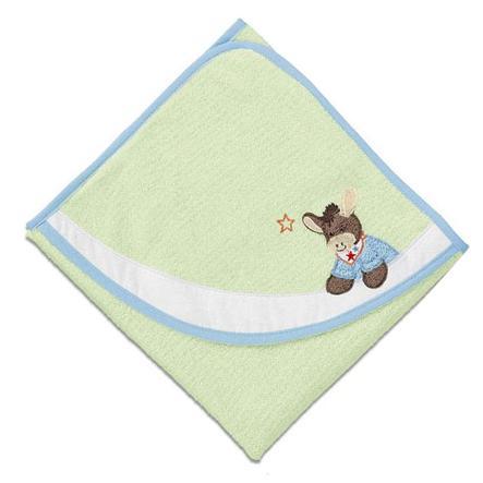 STERNTALER Badehåndklæde, Æslet Emmi, grøn 100x100 cm