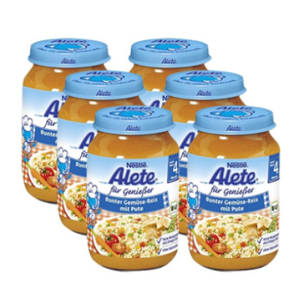 ALETE Organic Colorful Vegetable Rice with Turkey 6 x 190 g