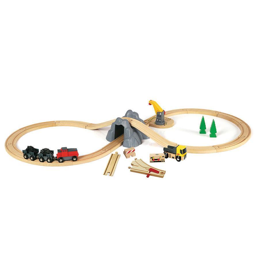 BRIO Spoorwegen steenkoolmijn set met locomotief
