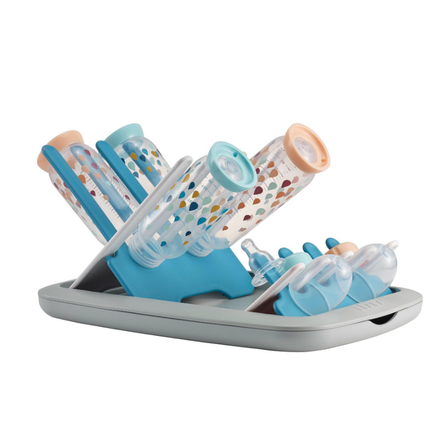 BEABA Folding Bottle Drainer - Pastel Blue