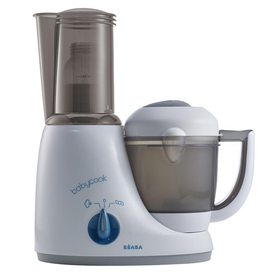 BEABA Mixeur cuiseur Babycook Original Plus 4 en 1, gris/bleu