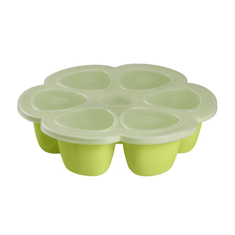 BEABA Moule de congélation multi-portions, silicone, 6 x 150 ml, néon vert