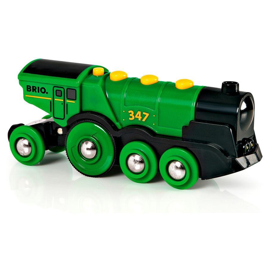 BRIO Locomotive verte puissante à piles