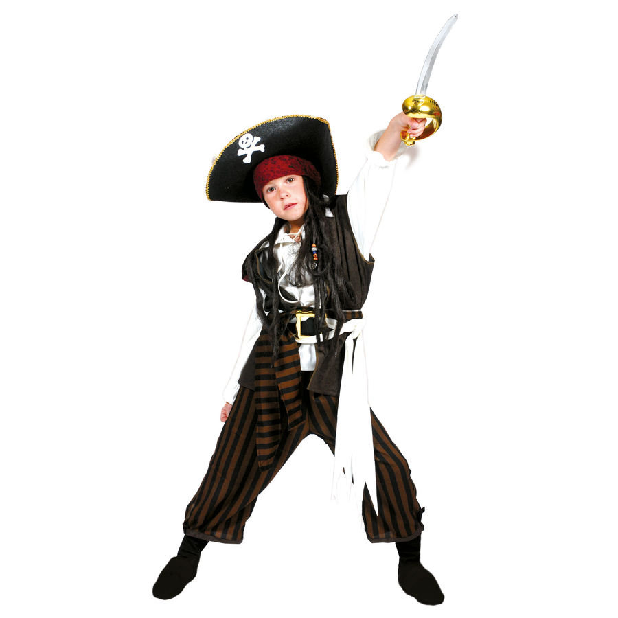 FUNNY FASHION Carnival Costume Pirate Boy, 3 parts