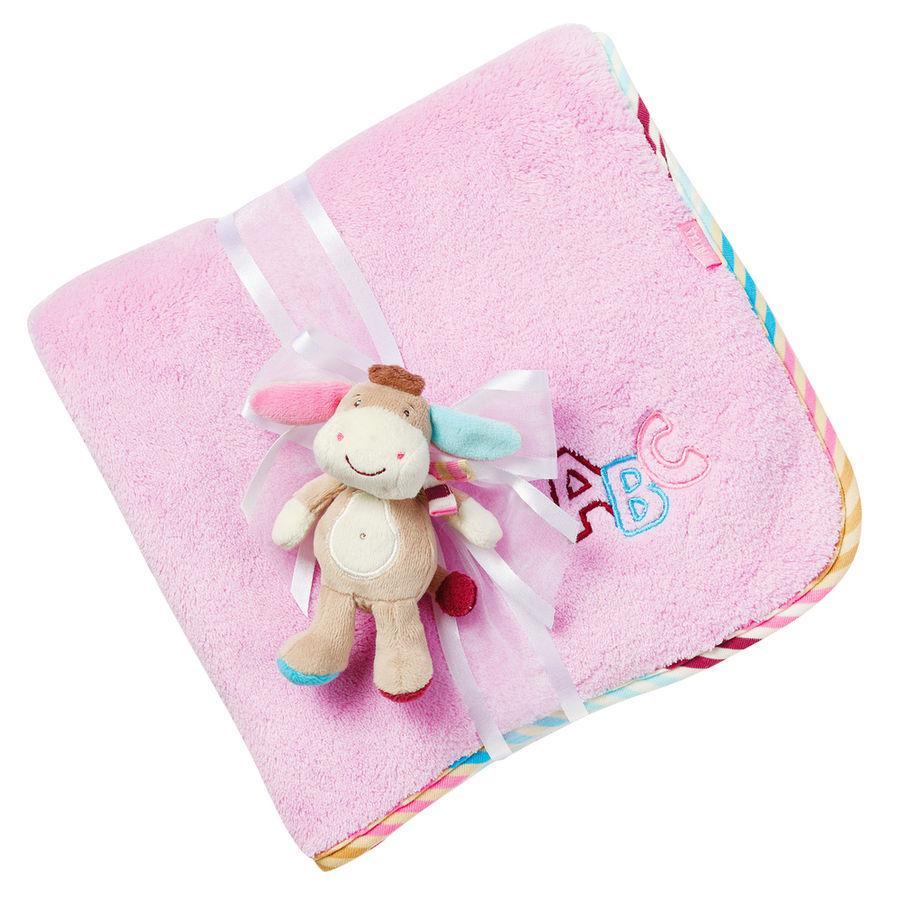 BABY SUN Couverture Monkey Donkey, âne, lilas