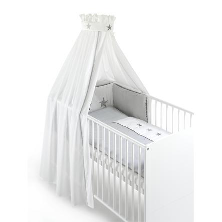 Schardt Bett-Set 4tlg. Stern grau
