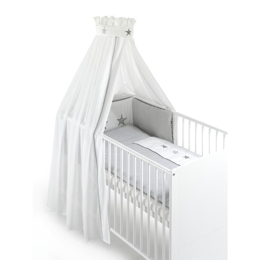 SCHARDT Ložní sada 4 dílná šedé hvězdičky