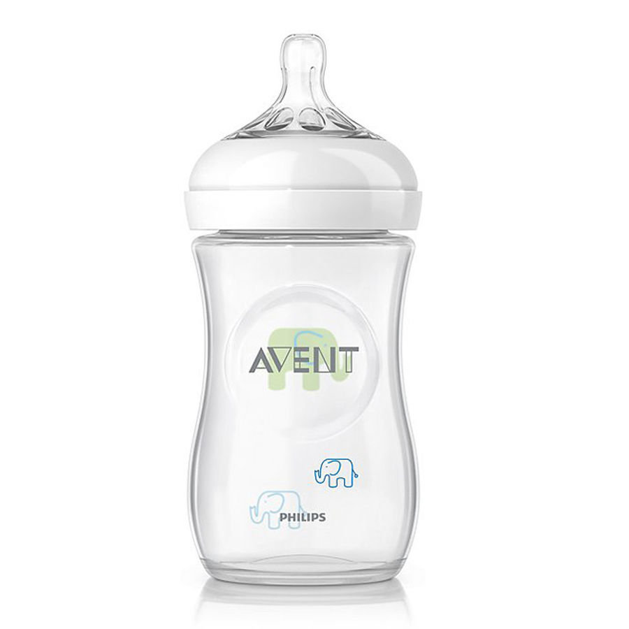 AVENT Natural Bottle 260 ml Elephant, Boy