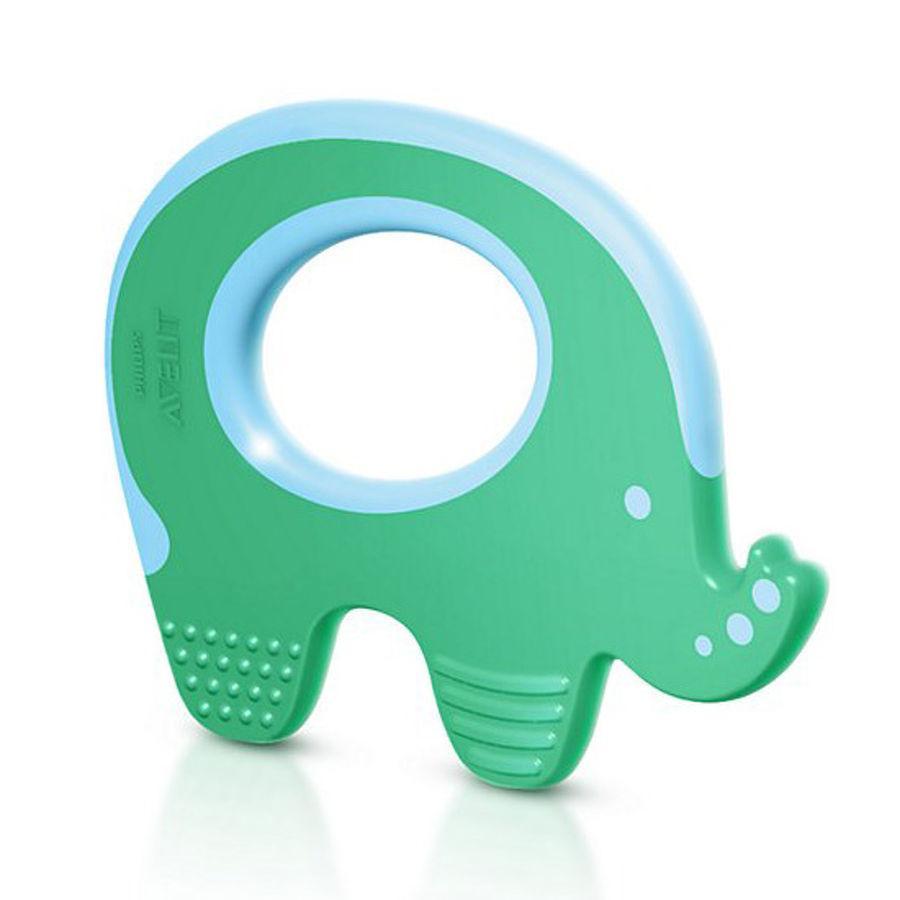 Philips Avent Beißring SCF199/00 grün Elefant