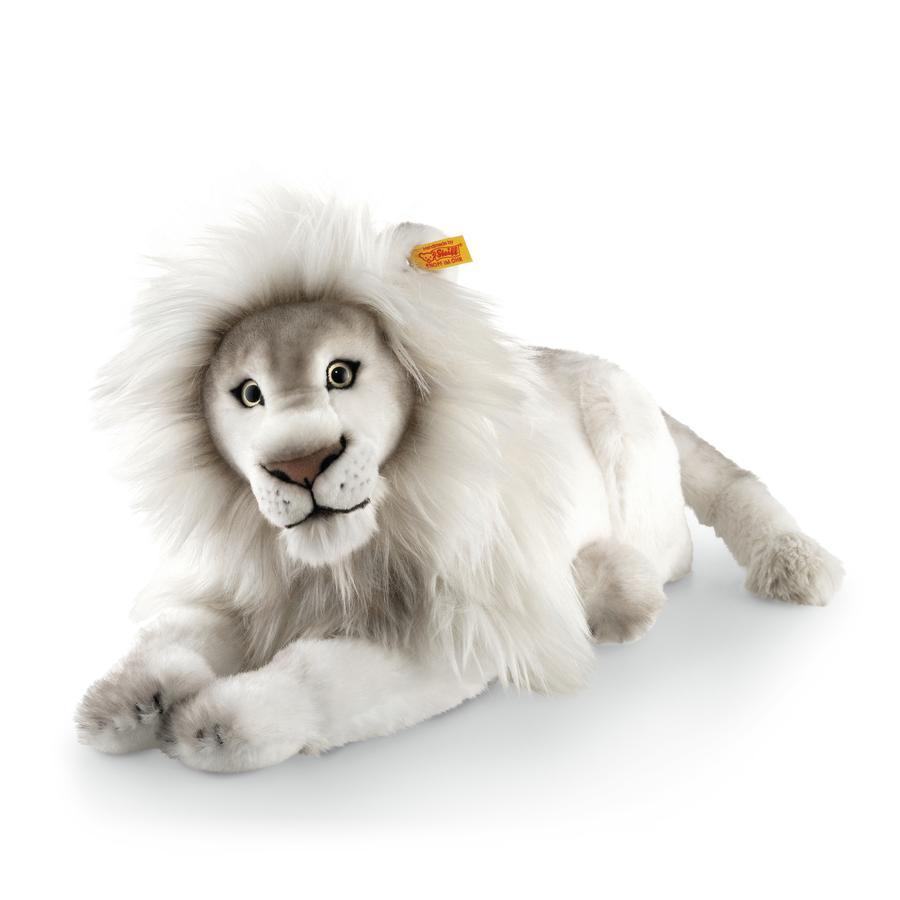 Steiff Maskotka Lew Timba, 42 cm leżąca, kolor biały