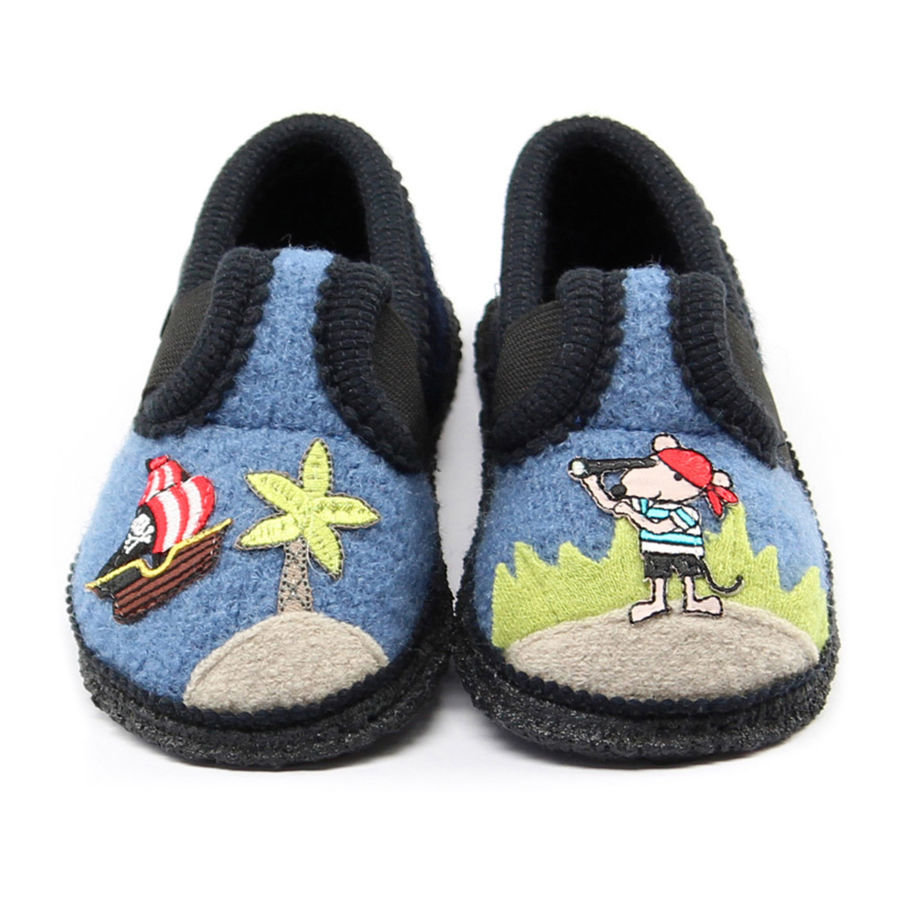 BECK Boys Pantofole PIRATI blu