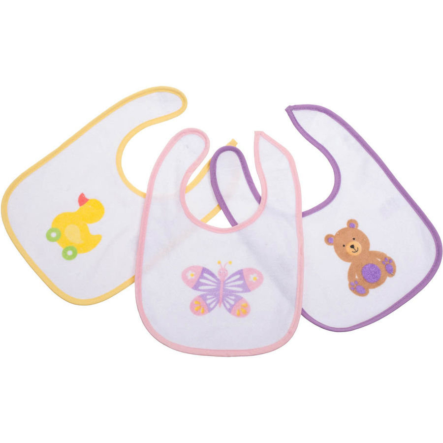 BIECO Baby Bavaglini Girls, Set da 3