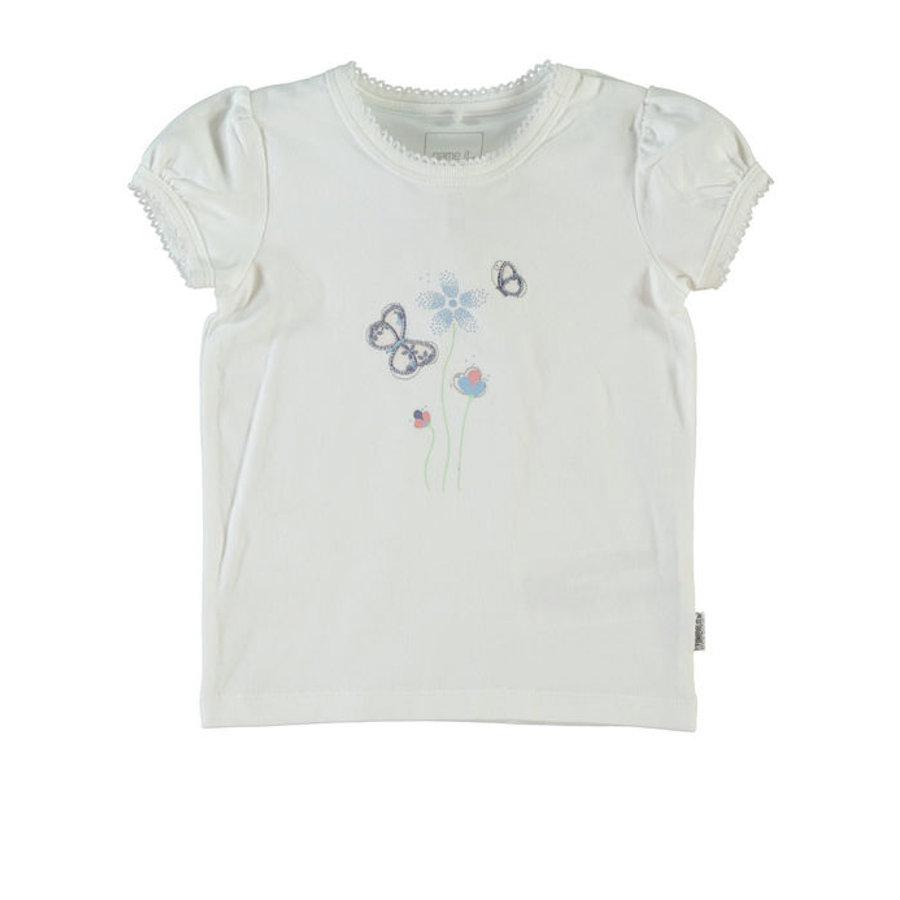name it Girls T-Shirt Isabella bright white
